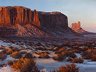 Snowfire-Monument Valley  30 x 40 Oil